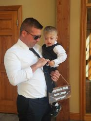 Ring Bearer Sam and Dad
